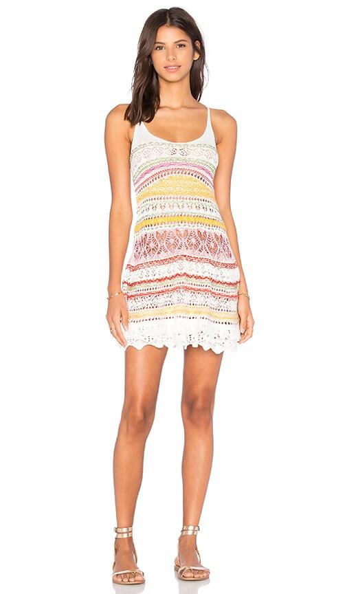 Cecilia Prado Leblon Crochet Mini Dress in White