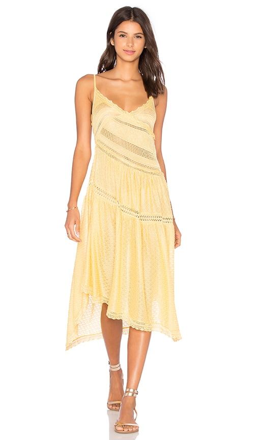 Cecilia Prado Ipanema Mini Dress in Yellow
