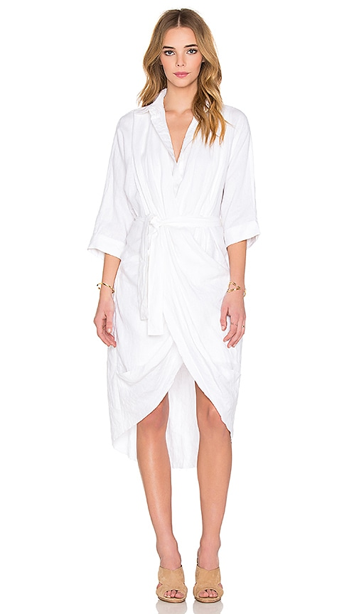 Acler Phoenix Shirt Dress in Ivory