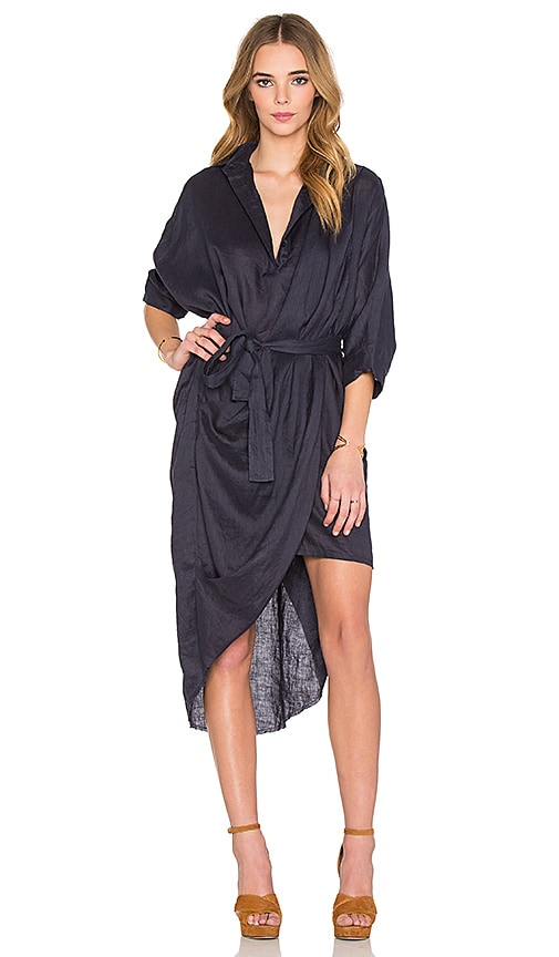 Acler Phoenix Shirt Dress in Midnight