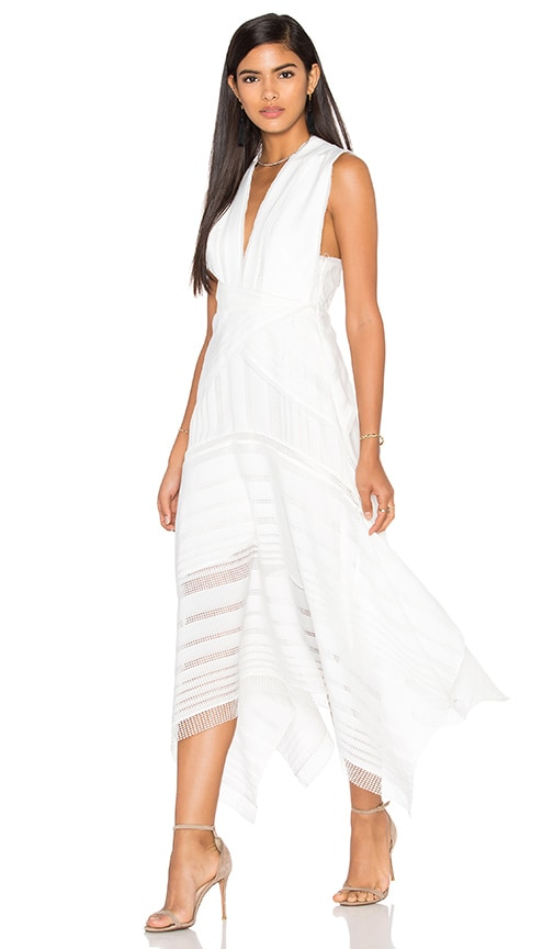Acler Argent Lace Maxi Dress in White