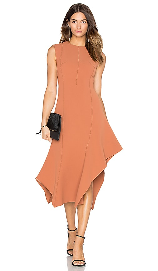 Acler Nelson Dress in Burnt Toffee