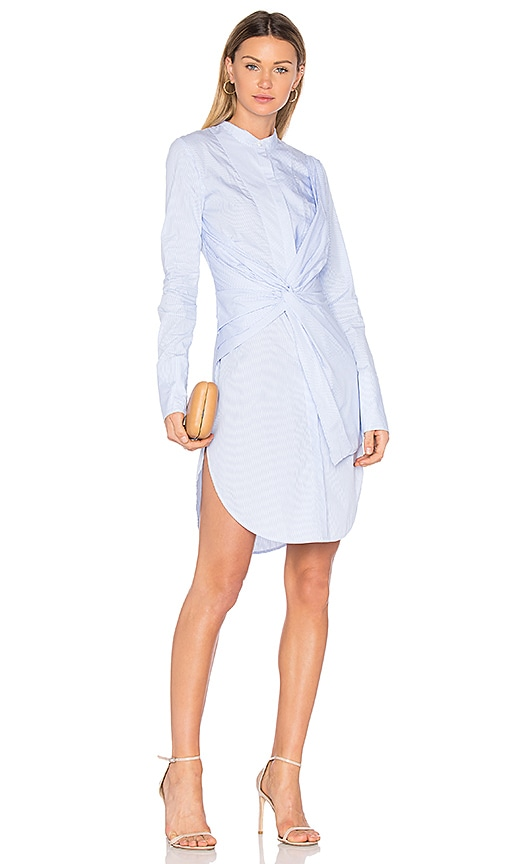 Acler Rowe Shirt Dress in Blue