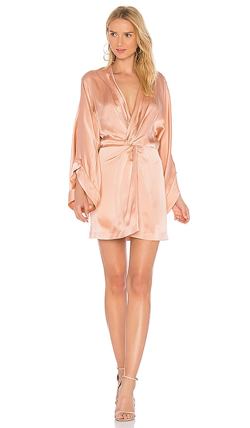 Acler Eden Silk Dress in Pink