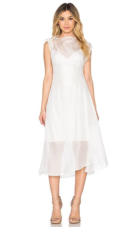 Acler Joshua Silk Dress in Ivory