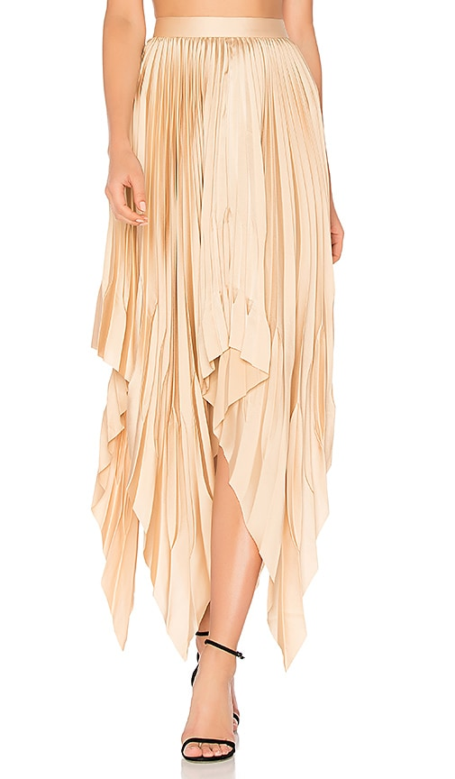 Acler Cedar Pleat Skirt in Peach