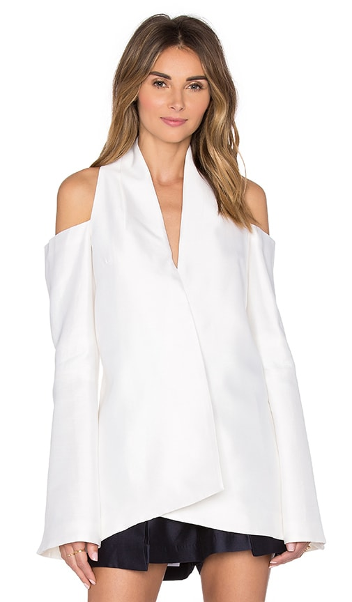 Acler Cambridge Top in Ivory