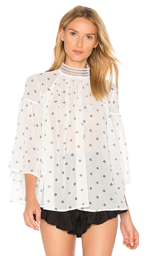 Acler Oxford Blouse in White