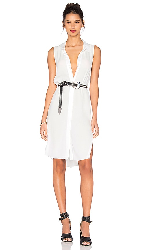 Central Park West Tank Dress in White