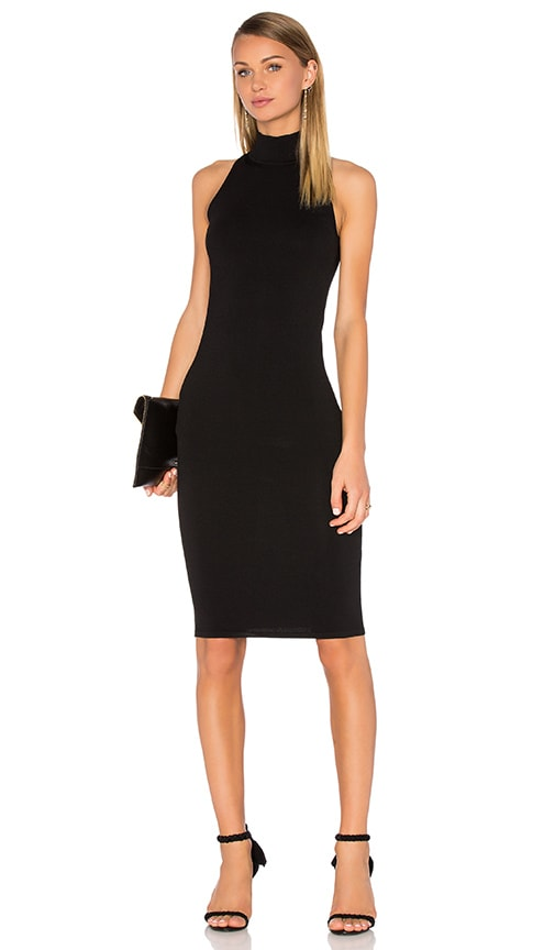 Central Park West Miramar Knit Dress in Black