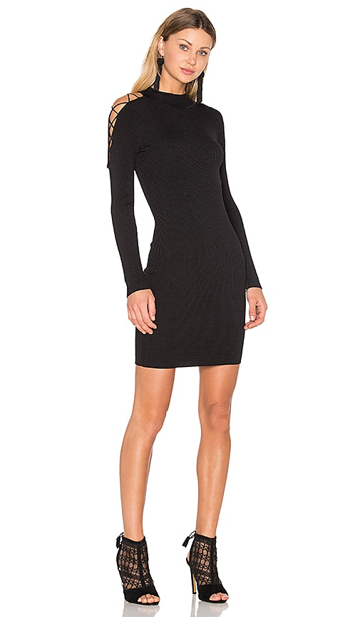 Central Park West Irving Place Bodycon Dress in Black