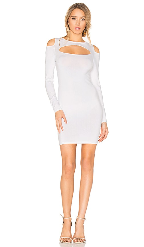 Central Park West Palm Springs Bodycon Dress in White