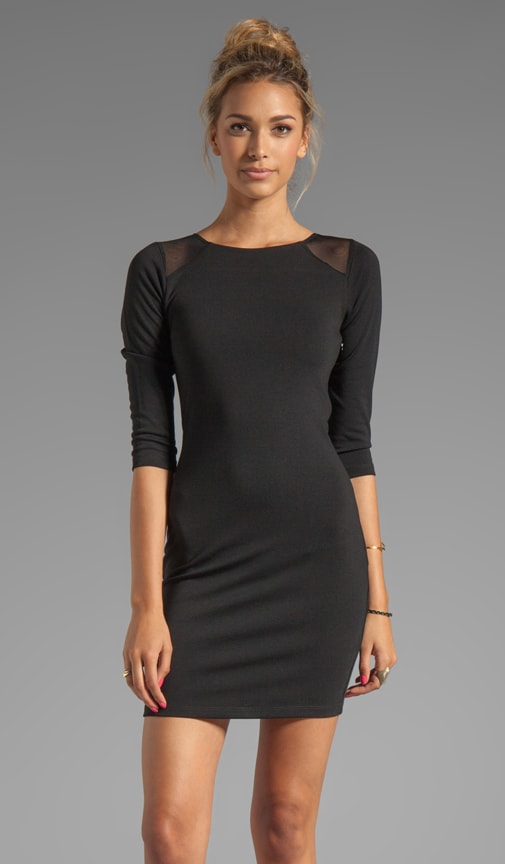 Sparks Long Sleeve Ponte/Mesh Dress