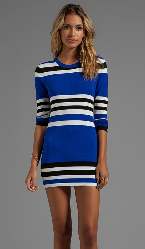 Casper Long Sleeve Striped Body Con