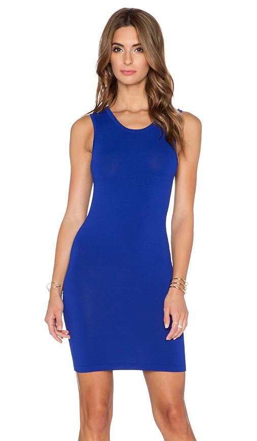 Central Park West Stockholm Knit Dress in Electric Blue