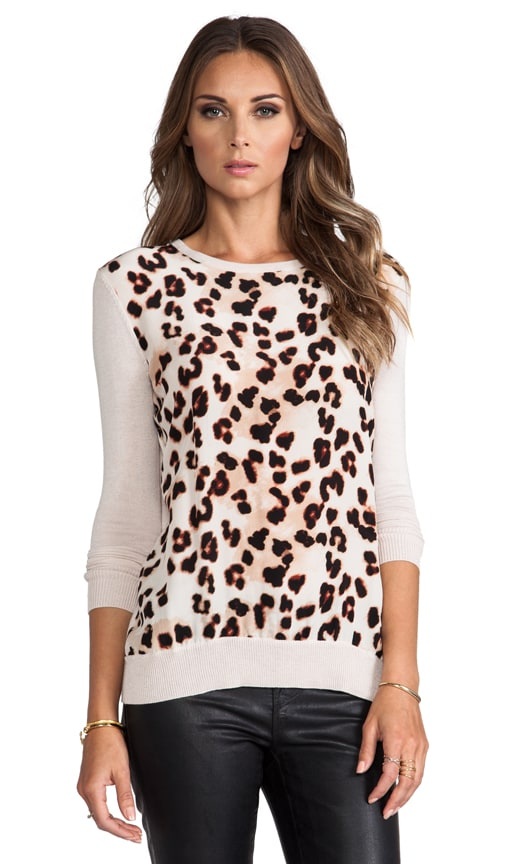 Silk Animal Print Sweater