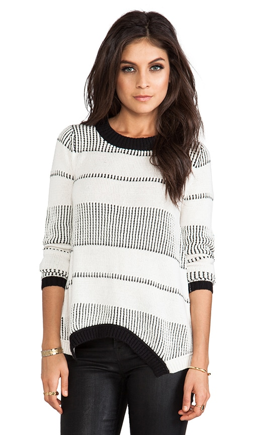 Crete Asymmetric Hem Sweater