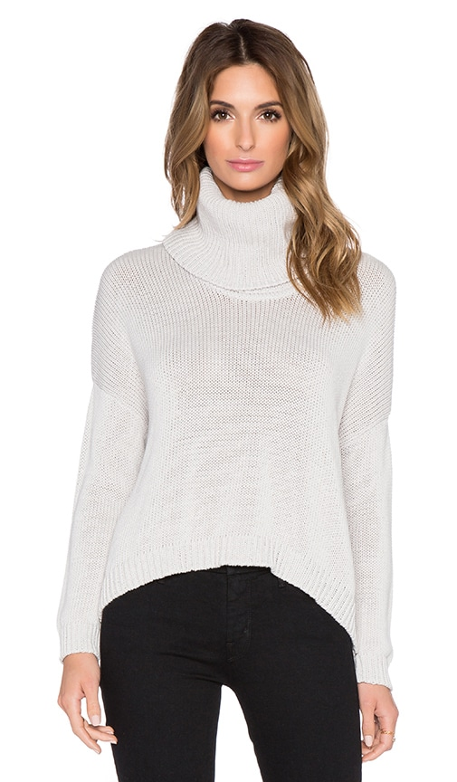 Central Park West Quito Turtleneck Sweater in Grey