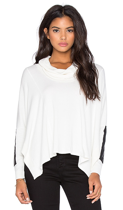 Central Park West Patagonia Turtleneck Dolman Sweater in Ivory