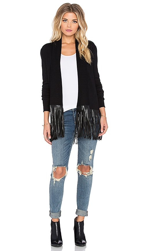 Central Park West Stockton Cardigan in Black