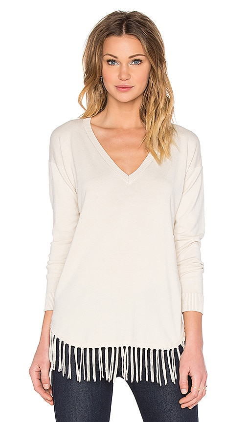 Central Park West Provence V Neck Sweater in Sand