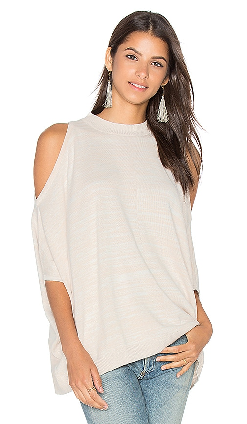Central Park West Modena Cold Shoulder Sweater in Beige