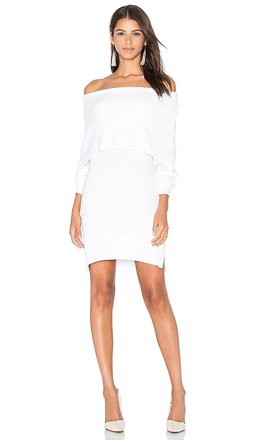 Central Park West Modena Off Shoulder Sweater in White