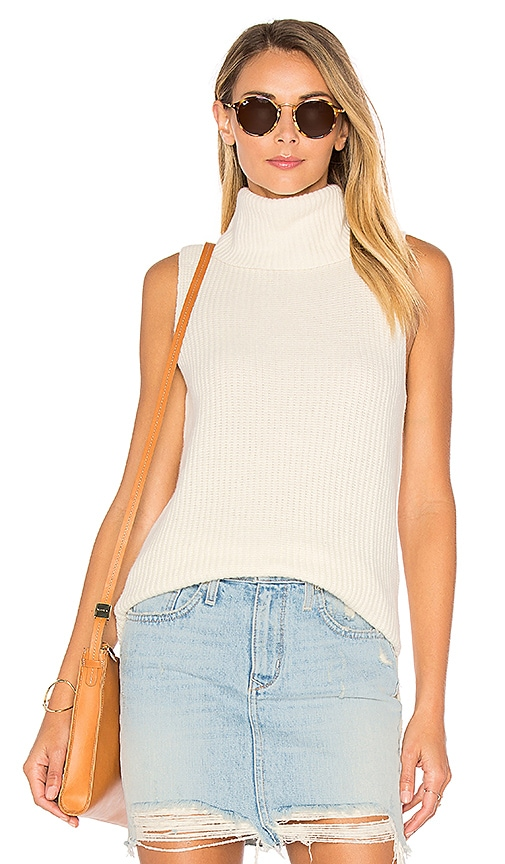 Central Park West Leeds Sleeveless Sweater in White
