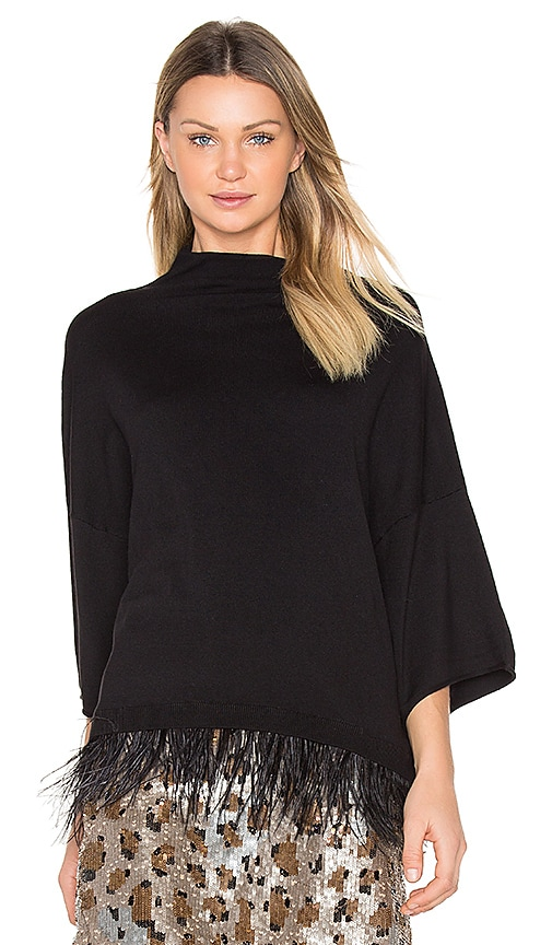 Central Park West Beekman Place Sweater in Black