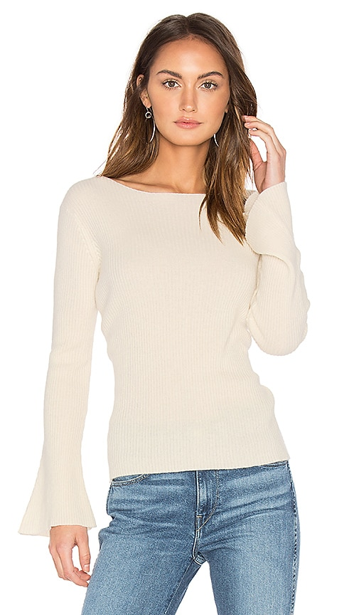Central Park West Salzburg Pullover Cashmere Sweater in White