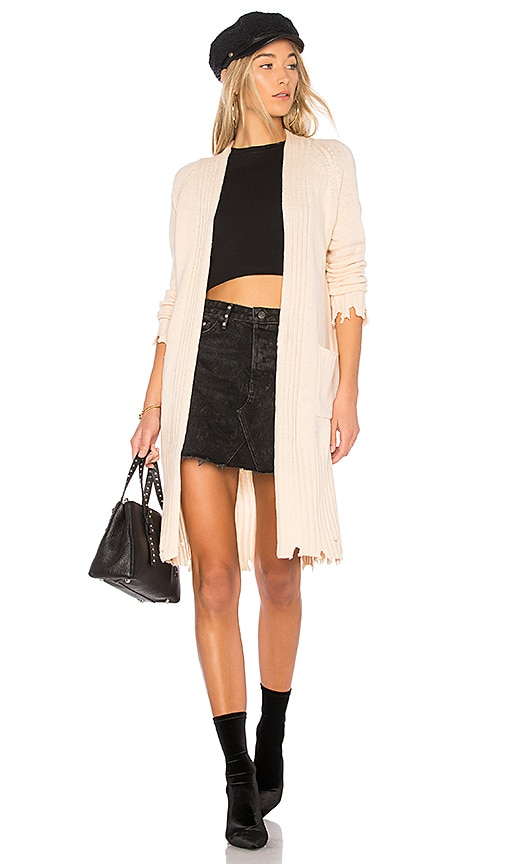Central Park West Haight Duster Cardigan in Blush
