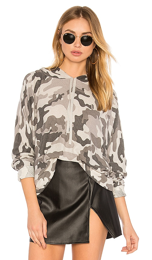 Central Park West Casper Camo Hoodie in Gray