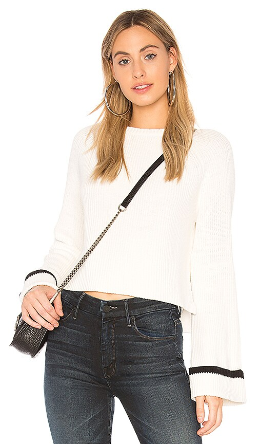Central Park West Bryce Sweater in White
