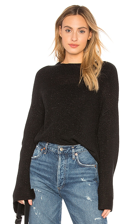 Central Park West Oversized Sweater in Black