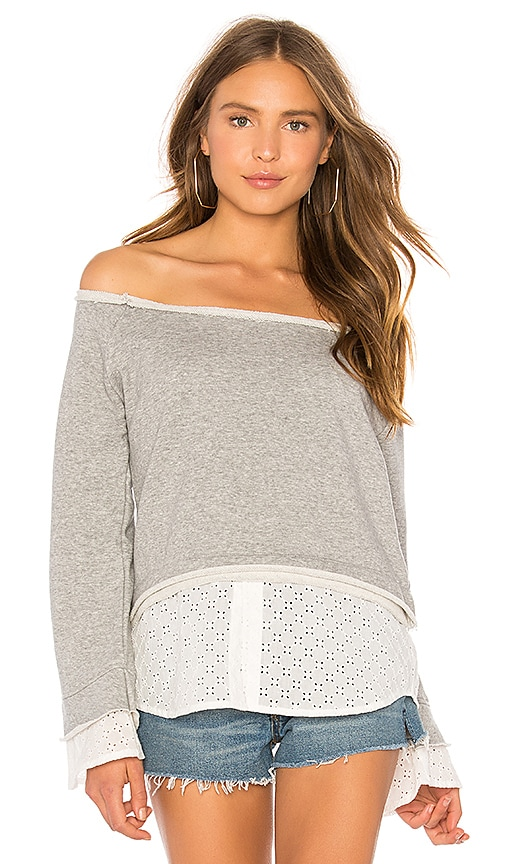 CENTRAL PARK WEST CLOVER BELL SLEEVE SWEATER