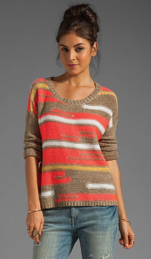 Bal Harbour Mix Yarn Stripe Pullover