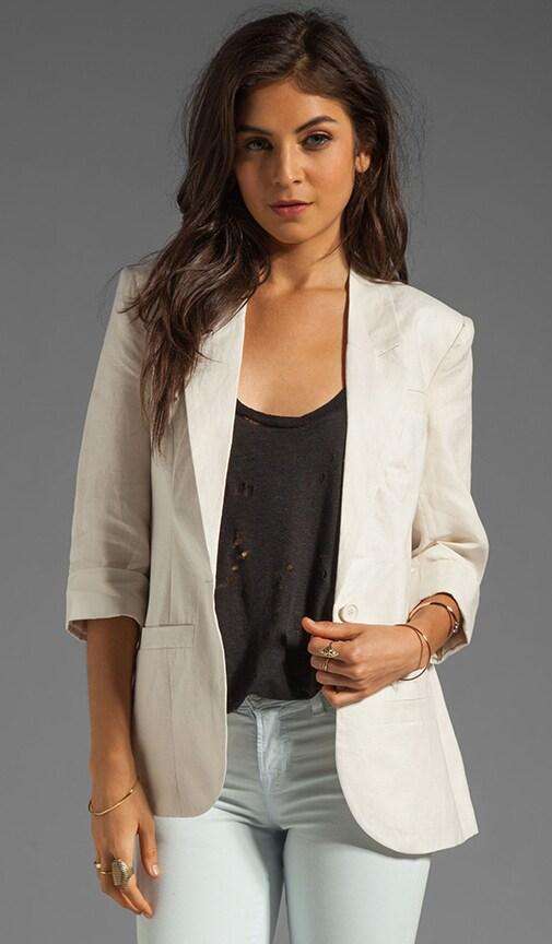 Durham Linen Elbow Sleeve Blazer
