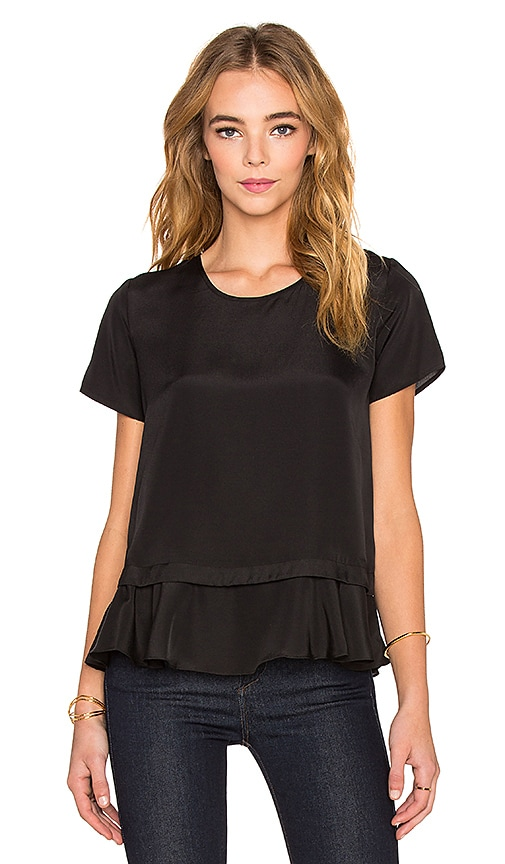 Central Park West Banff Layered Top in Black