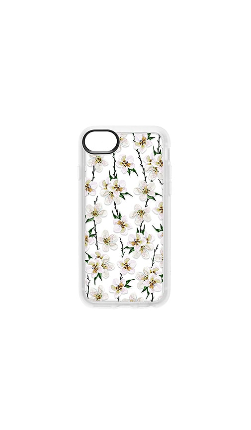 Casetify CASETIFY WHITE FLORAL IPHONE 6/7/8 CASE IN WHITE.