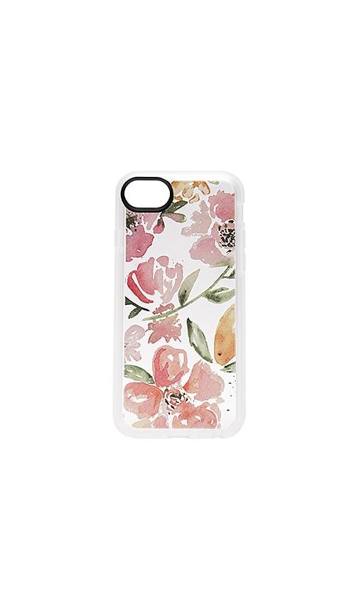 Casetify Floral Pink Gray iPhone 7 Case in Pink