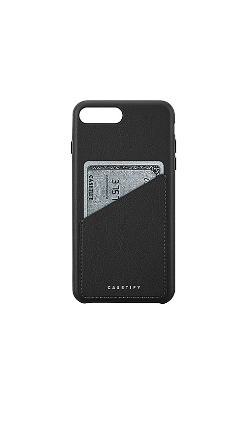 7c172f76157 Casetify FUNDA DE CUERO PARA IPHONE 6/7/8 PLUS Y TARJETAS en Black ...