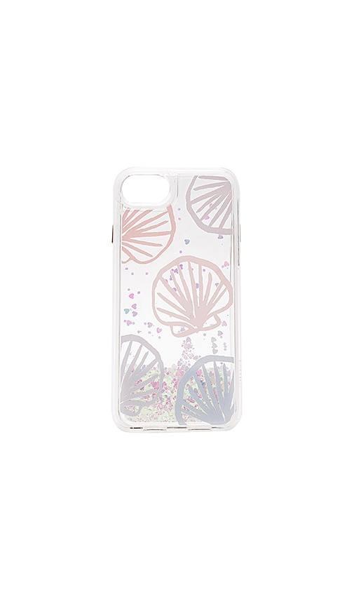 Casetify Seashell Scape iPhone 7 Glitter Case in Pink