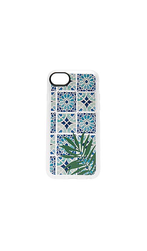 Tropical Leave Moroccan Tiles iPhone 7 Case