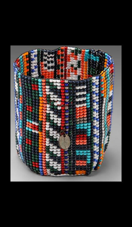 Handwoven Glass Bead Cuff