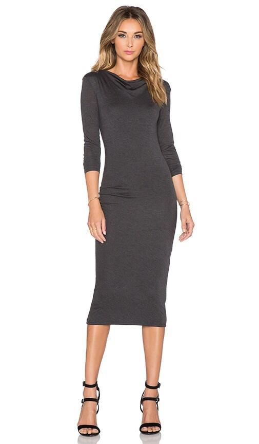 CHARLI Malou Dress in Charcoal