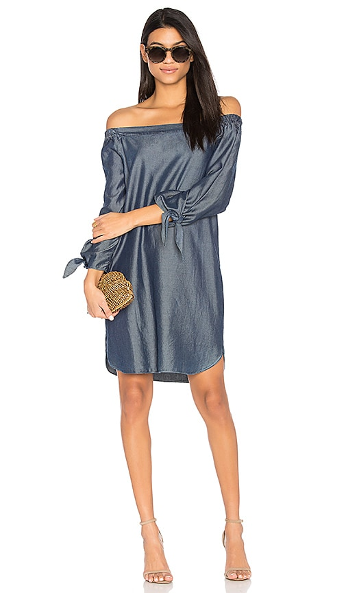 CHARLI Sable Off Shoulder Dress in Blue