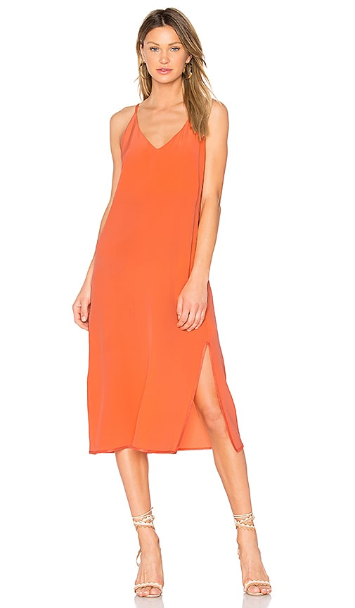 CHARLI Maelle V Neck Maxi Dress in Orange