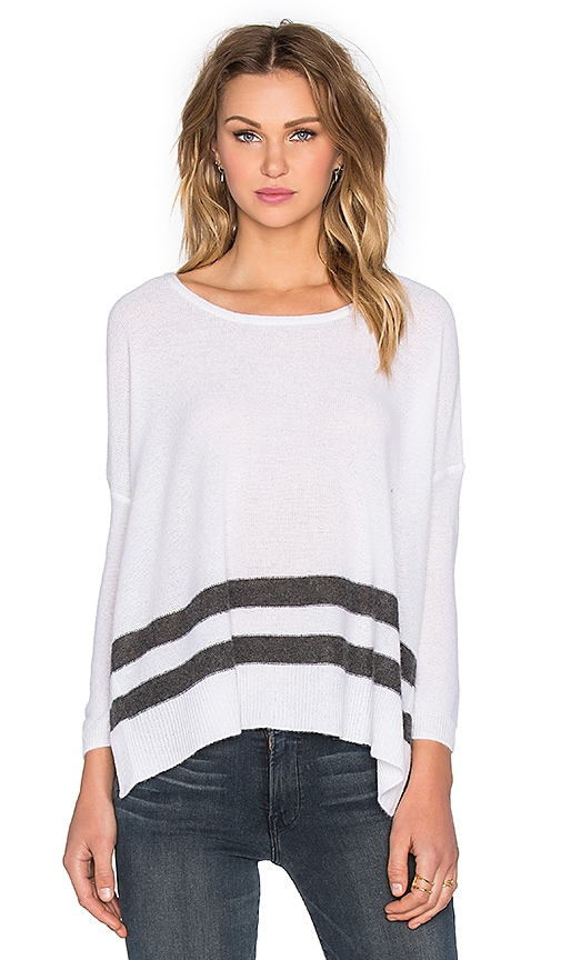 CHARLI Corra Cashmere Sweater in Black & White Stripe