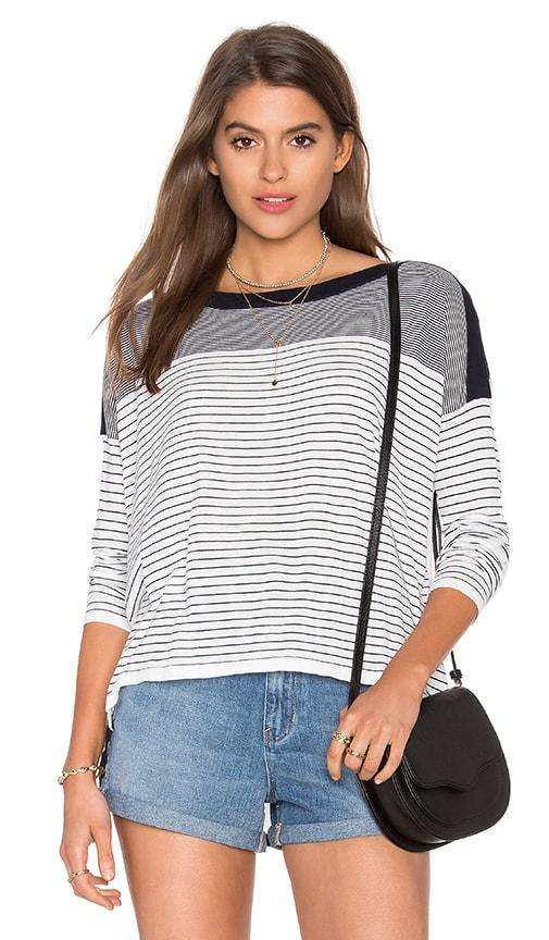CHARLI Anglea Sweater in Navy & White