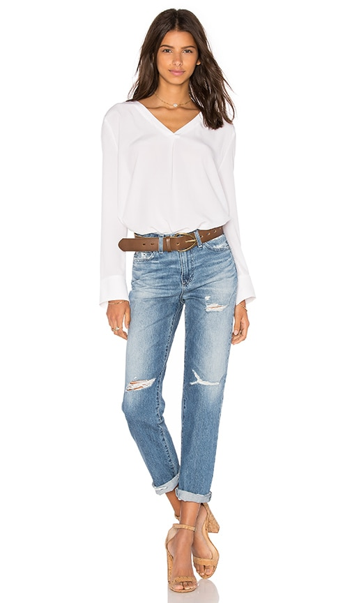 CHARLI Scarlet Long Sleeve Top in White